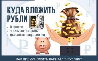 Куда вложить рубли чтобы не потерять